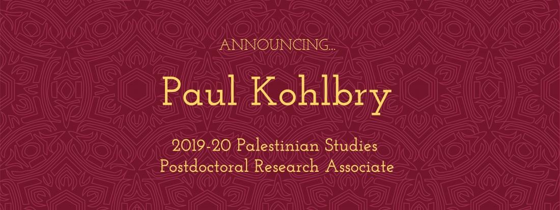 Palestinian Studies postdoc